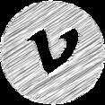 Vimeo Scribble Style Icon