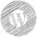 WordPress Scribble Style Icon