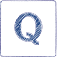Handdrawn Q Icon