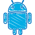 Quirky Hand-Drawn Android Icon