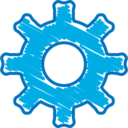 Quirky Hand-Drawn Settings Icon