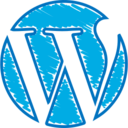 Quirky Hand-Drawn Wordpress Icon