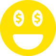 Simple Money Eyes Face Emoticon