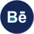 Bēhance Social Media Button Icon