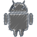 Charcoal-Style Android Icon