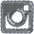Charcoal-Style Instagram Icon
