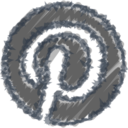 Charcoal-Style Pinterest Icon