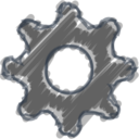 Charcoal-Style Settings Icon