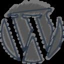 Charcoal-Style Wordpress Icon