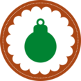 Christmas Ornament Stamp Icon