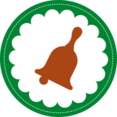 Christmas Bell Stamp Icon