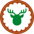 Christmas Reindeer Stamp Icon