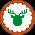 Christmas Reindeer Stamp Icon