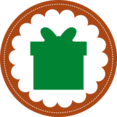 Christmas Present Stamp Icon
