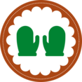 Christmas Mittens Stamp Icon