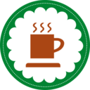 Christmas Hot Chocolate Stamp Icon