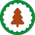 Christmas Tree Stamp Icon