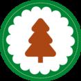 Christmas Tree Stamp Icon