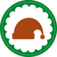 Christmas Santa Hat Stamp Icon