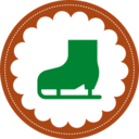 Christmas Ice Skate Stamp Icon