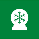 Square Snow Globe Christmas Icon