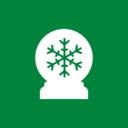 Square Snow Globe Christmas Icon