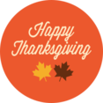 Colorful Happy Thanksgiving Icon