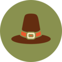 Colorful Pilgrim Hat Icon