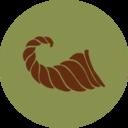 Colorful Autumn Cornucopia Icon