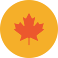 Colorful Autumn Maple Leaf Icon