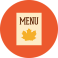 Colorful Autumn Menu Icon