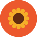 Colorful Autumn Sunflower Icon