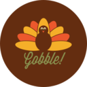 Colorful Autumn Turkey Icon