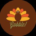 Colorful Autumn Turkey Icon