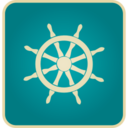 Vintage Ship Steering Icon