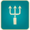 Vintage Trident Icon