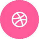 Trendy Dribbble Icon