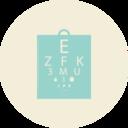 Eye Chart Flat Vintage Icon