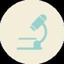 Microscope Flat Vintage Icon