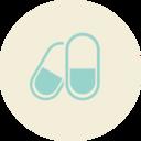 Pills Flat Vintage Icon