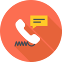 Flat Corded Phone Icon