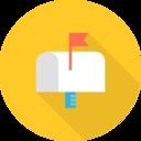 Flat Mailbox Icon