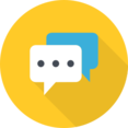 Flat Message Icon