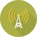 Flat Cell Phone Tower Icon