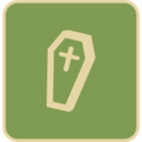 Flat Coffin Icon