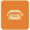 Flat Dracula Teeth Icon