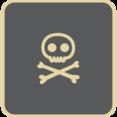Flat Skull Icon