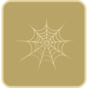 Flat Spiderweb Icon