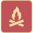Flat Campfire Icon