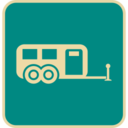 Flat Camper Icon